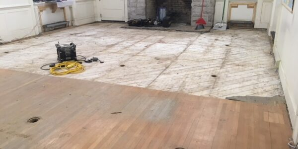 Squad Room Floor Removal